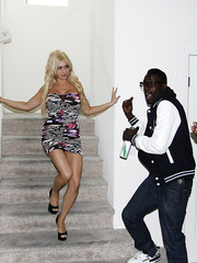 Young-looked blonde mom Christie Stevens banged by monster black dick