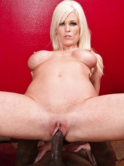 Blonde mom Kaylee Brookshire with saggy tits fucked hard by black guy