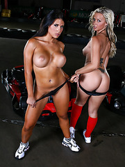 Two awesome lesbians Robyn Truelove and Charisma Cappelli doing bad things