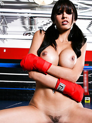 Sensate chick Shy Love shows hot beatidful legs and masturbates at the gym