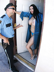 Harley Rain is having her milf cunt fucked by a policeman
