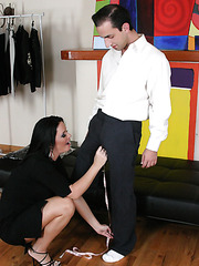 Wonderful skinny milf babe Maya Devine is being teased by her beautiful man