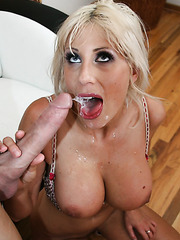 Topnotch housewife Puma Swede swallowing a hard dagger and getting pounded