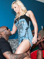 Hottie Nicki Hunter suck black fat cock and then take it in ass