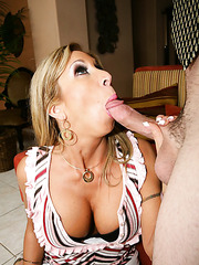 Milf Morgan Ray likes to swallow big cocks and gets penetrated all the time