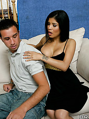 Marvelous coquette Alexis Amore acting like a loving wife and making a deepthroat