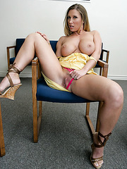 Radiant milf Devon Lee shows big ass and takes off sexy panties