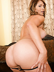 Pretty curve Monique Fuentes showing massive ass and spreading pussy