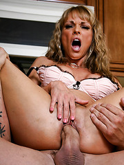 Cocky wife Shayla Leveaux playing with a big cock and getting delicious cum