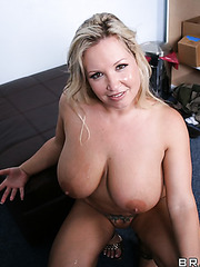 Alluring fatty Rachel Love making a deep blowjob to please her friend