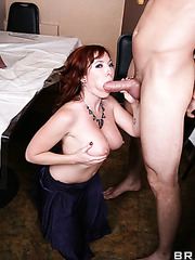 Delicate milf Brittany O'Connell fucking like a true whore and getting a cumshot