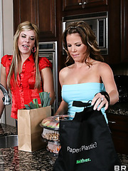 Veronica Rayne and her friend Kayla Synz enjoying big delicious cock