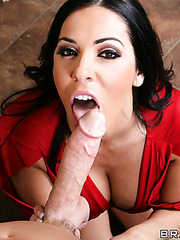 Veronica Rayne making a hot titjob for her strong friend and getting drilled