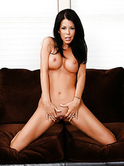 Zealoux milf Tabitha Stevens stripping in hot panties and fingering