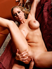 Nice and tasty milf Julia Ann getting drilled in ass and creampied at the end