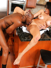 Nice mature Shay Sights having fun during a really cool interracial penetration