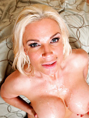 Nice wet milf Diamond Foxxx showing big tits and riding a big hard dagger