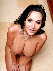 Nice milf Ava Addams riding her friend's big cock and trying to get a cumshot