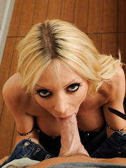 Charming babe Holly Sampson getting ready to be fucked with a big cock