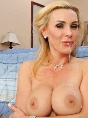 Gorgeous and busty blonde Tanya Tate takes big cock in her wet holes