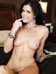 Glamorous and gorgeous milf India Summer has sweet time with her new lover
