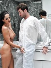 Elegant and flexible lady with sexy long legs and big tits Ava Addams fucked hot