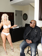 Mature blonde pornstar Isabella Rossa fuck and suck big black dick