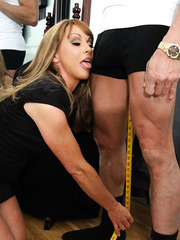 Horny milf with hot eyes and great ambitious Shayla Leveaux fucked sweet