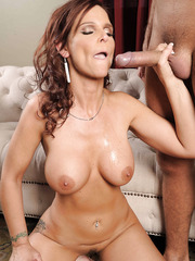 Busty wife Syren De Mer gets facialized after voluptuous fucking action