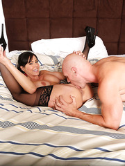 Kendra Lust is a juicy brunette milf with huge tits that loves big cocks