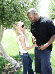 Sexy hot mom Jennla Moore hard fucked by huge black dude