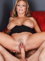 Mature blonde with huge tits Amber Lynn Bach makes this casting unforgettable