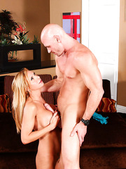 Busty cutie Brooke Tyler enjoys fucking with big dicks and gentle pussy licking