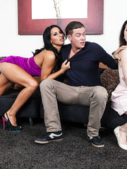 Black haired hottie Sophia Bella gets a fresh facial after volcanic orgasm