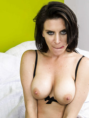 Slender and alluring brunette milf Dallas got a dick in the ass