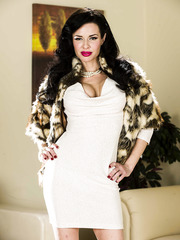 Elegant and splendid brunette lady Veronica Avluv takes off her beautiful lingerie