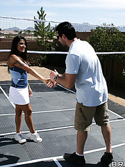 Busty brunette milf Jenaveve Jolie got a great fuck at the tennis court