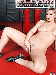 Milf Kylee Strutt willingly shows off a pair of her super big and sweet melons