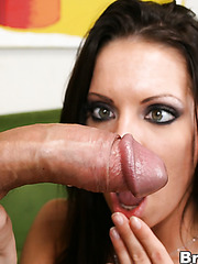 Brett Rockman pays Vanessa Lane for a car wash with his huge dick