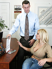 Wild fucking action with lucky boss Criss Strokes and busty milf Shyla Stylez