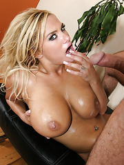 The hottest halloween party for busty blonde milf Shyla Stylez and her neighbour