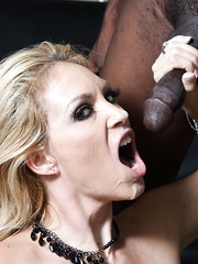 Blonde milf pornstar Charlee Chase with huge boobs hard fucked by black guy