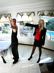 Busty whore Puma Swede gets a sweet cunnilingus from her fucker