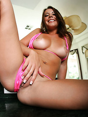 Young and naughty babe Penny Flame rubs her pussy and gets pleasure