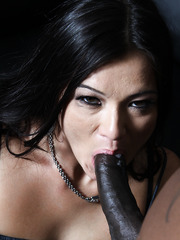 Brunette milf Cece Stone with huge clit love big black cock