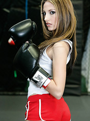 Brave and horny sport girl Jenna Haze will show you her trimmed pussy