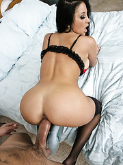 Really hot brunette milf with big tits and huge ass Audrey Bitoni fucked by her lover