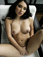 Horny and fascinating Asian milf brunette Roxy Jezel with sexy eyes