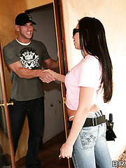 Rachel Starr in the hardcore action with neighbourhood big dicked boy