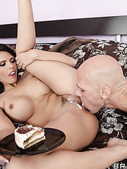 Buxom milf Shy Love has sweet time with her chief's big cock